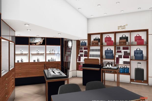 Nova boutique da Montblanc no Shopping Rio Sul (Foto: reprodução)
