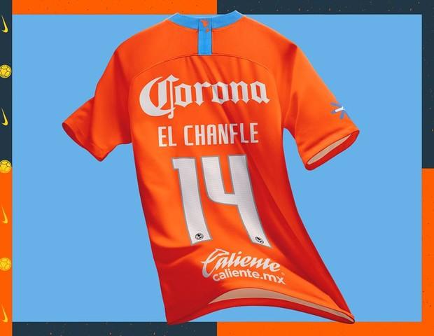 Camisa do América-Mex em homenagem a Chespirito (Foto: reprodução)
