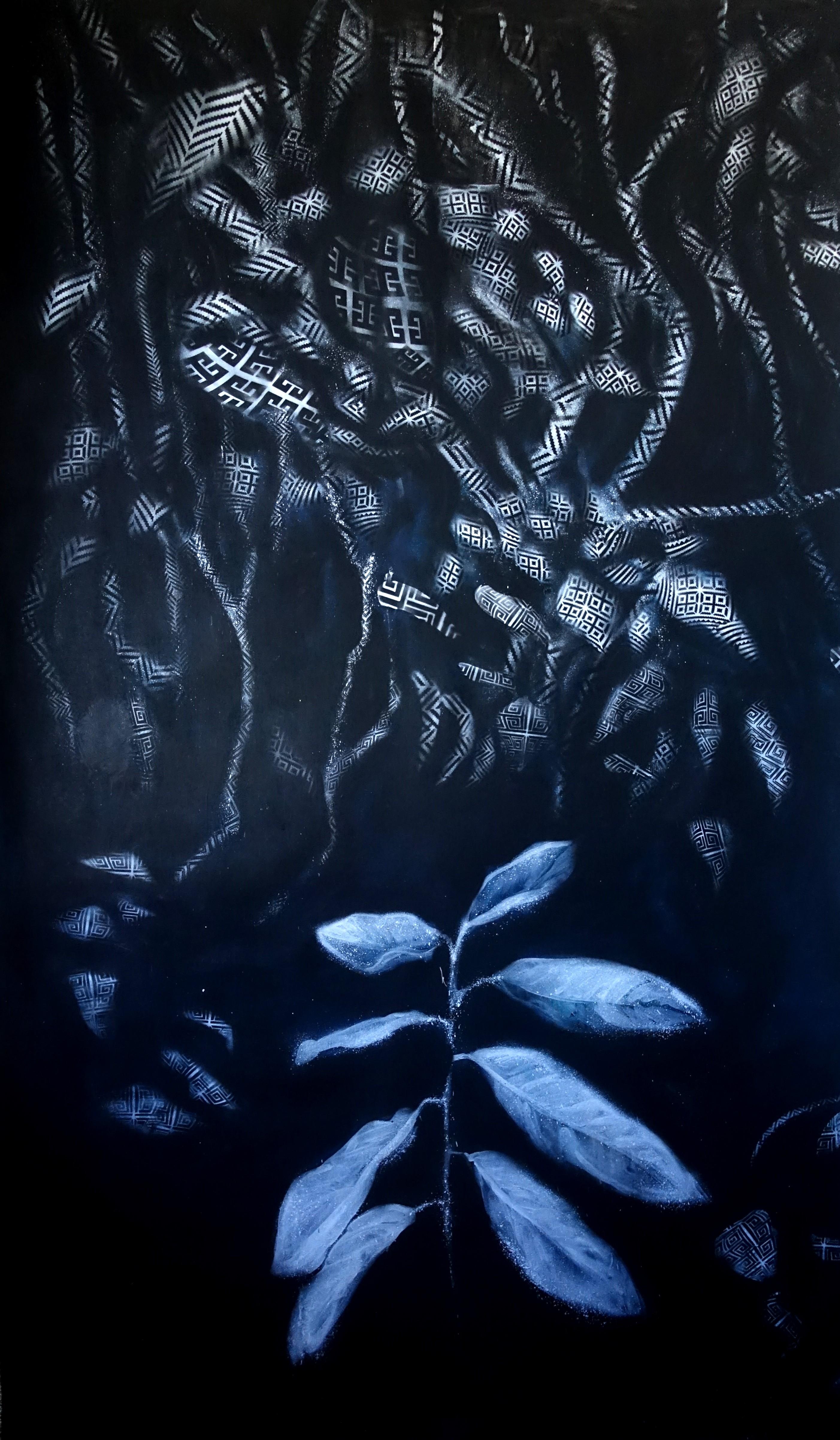 Pintura que faz parte de instalação imersiva (Foto: Vanessa Rosa / Divulgação)
