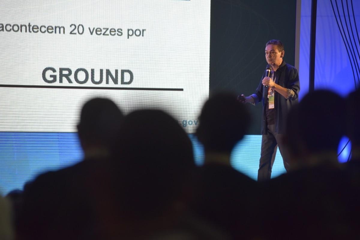 Ivair Gontijo, em palestra na Campus Party (Foto: Divulgação)