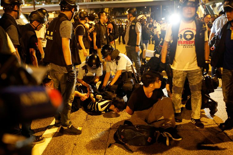 Protestos, Hong Kong.  REUTERS/James Pomfret